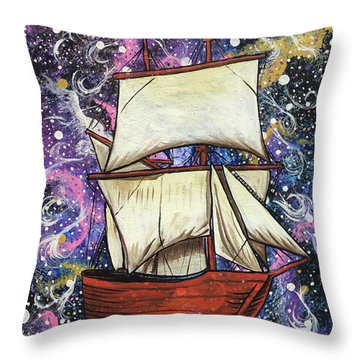 Throw Pillow featuring the painting Journey Of Faith by Nathan Rhoads