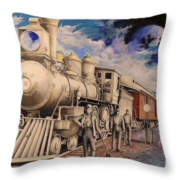 Journey Through The Mists Of Time Throw Pillow