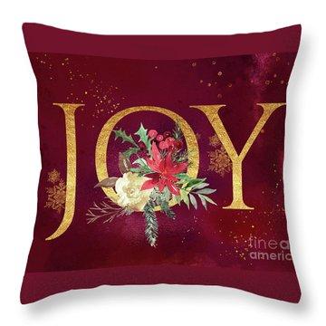 Joy Holiday Art  Throw Pillow