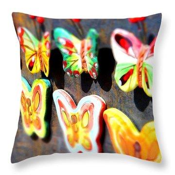 Joyful Butterflies Throw Pillow