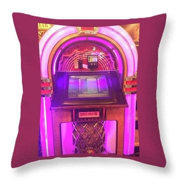 Throw Pillow featuring the digital art Jukebox Hero by Cindy Greenstein
