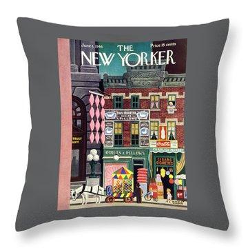 New Yorker June 1, 1946 Throw Pillow