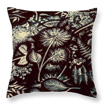 Jungle Flatlay Throw Pillow