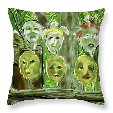 Jungle Spirits Throw Pillow