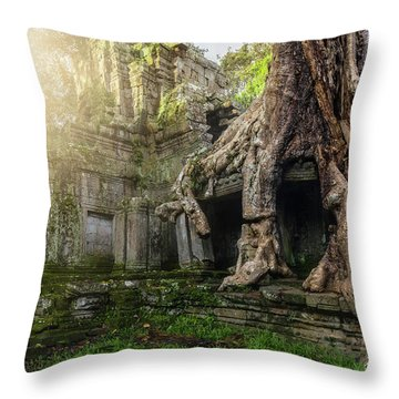 Throw Pillow featuring the photograph Jungle Temple 2 by Nicole Young
