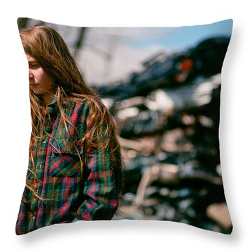 Throw Pillow featuring the photograph Junk by Carl Young