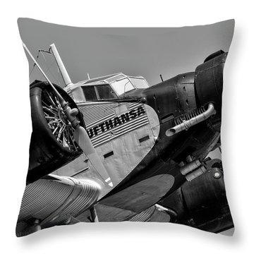Ju 52 Throw Pillows