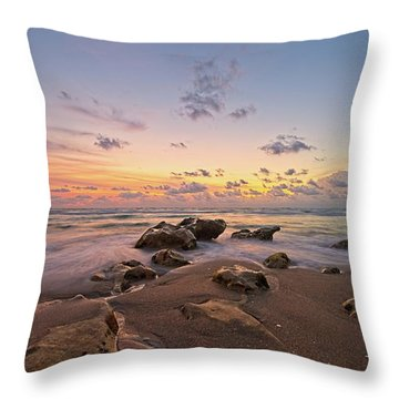 Jupiter Beach 2 Throw Pillow