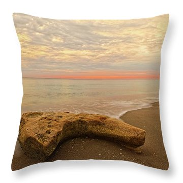 Jupiter Beach Throw Pillow