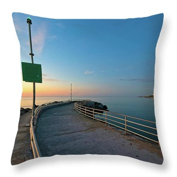Jupiter Inlet Jetty Looking South Throw Pillow