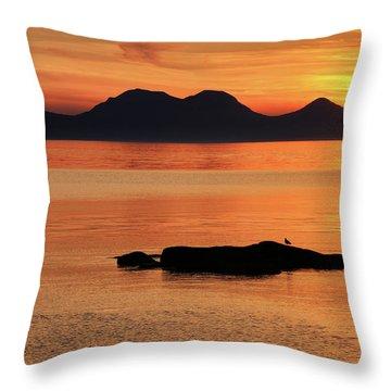 Jura Sunset Throw Pillow
