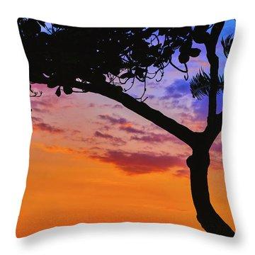 Just Another Kona Sunset Throw Pillow