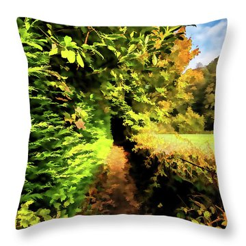 Just Another Walk Digital Painting Throw Pillow