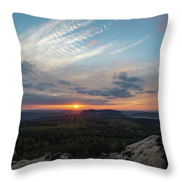 Just Before Sundown Throw Pillow