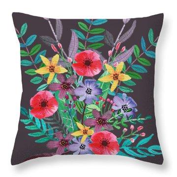 Just Flora II Throw Pillow