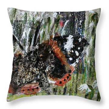 Just Hold On Throw Pillow