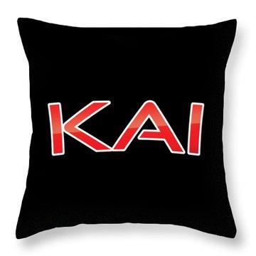 Throw Pillow featuring the digital art Kai by TintoDesigns