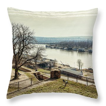 Kalemegdan Park Fortress In Belgrade Throw Pillow