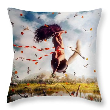 Kamikaze Throw Pillow