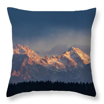 Kamnik Alps In The Morning. Throw Pillow