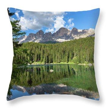 Karersee And Rosengarten Group Throw Pillow