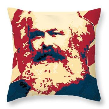 Karl Marx Cccp Retro Propaganda  Throw Pillow