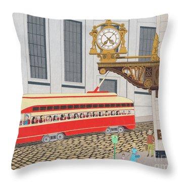 Kaufmann Clock Throw Pillow
