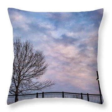 Kaw Point Silhouettes Throw Pillow