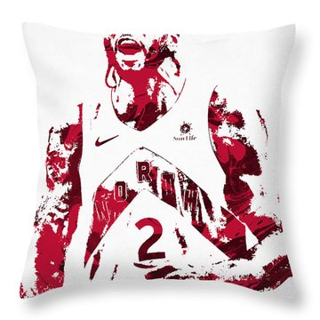 Kawhi Leonard Toronto Raptors Pixel Art 22 Throw Pillow