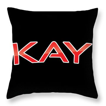 Throw Pillow featuring the digital art Kay by TintoDesigns