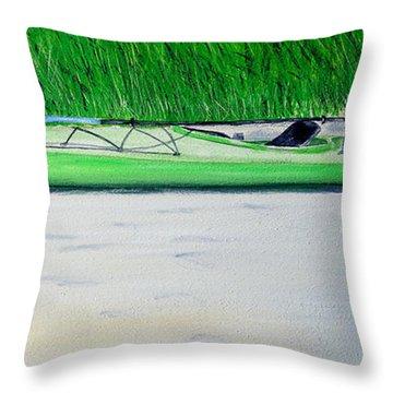 Kayak Essex River Throw Pillow