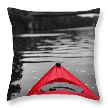 Kayaking The Occoquan Throw Pillow