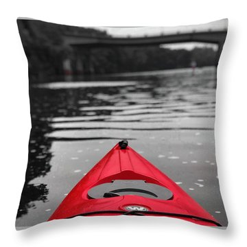 Kayaking The Occoquan Throw Pillow