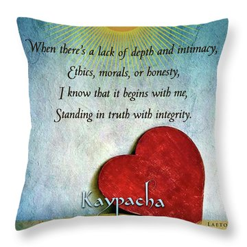 Kaypacha -february 13,2019 Throw Pillow