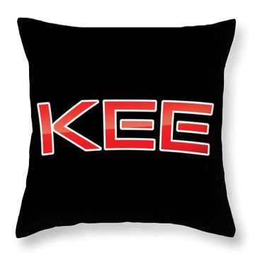Throw Pillow featuring the digital art Kee by TintoDesigns