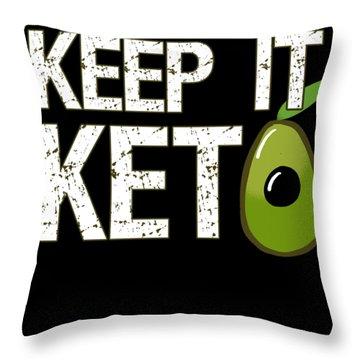 Keep It Keto Throw Pillow