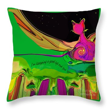 Keeping A Good Eye Out For You Throw Pillow