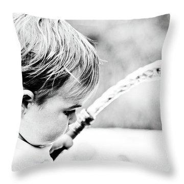 Keeping Cool Throw Pillow
