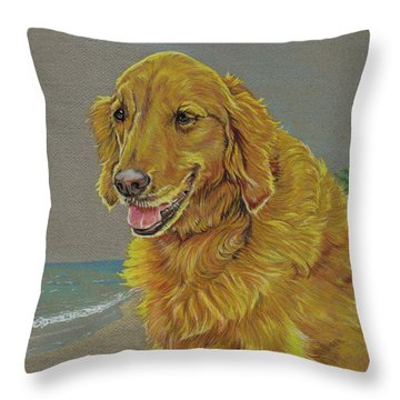 Kelly In Maui Throw Pillow
