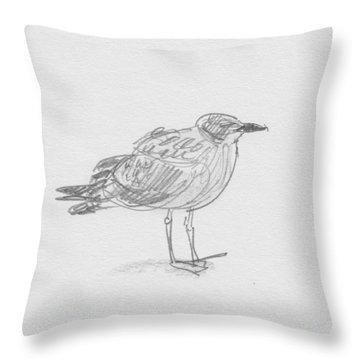 Kelp Gull Throw Pillow