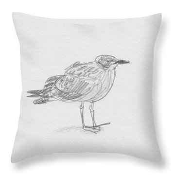 Kelp Gull Throw Pillow