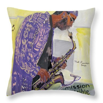 Kenny Garrett Throw Pillow