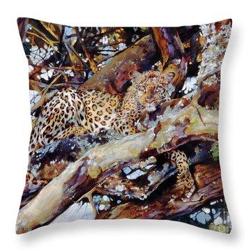 Kenyan Leopard Throw Pillow