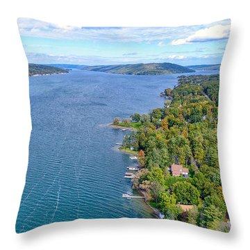 Keuka Center Point Throw Pillow