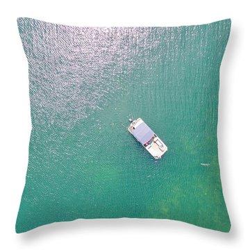 Keuka Lake Boating Throw Pillow