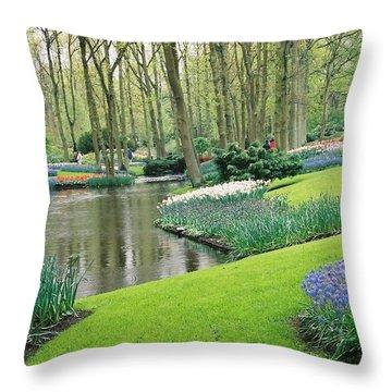 Keukenhof Gardens Throw Pillow