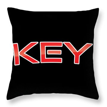 Throw Pillow featuring the digital art Key by TintoDesigns