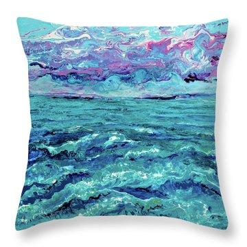 Keys Seascape Throw Pillow