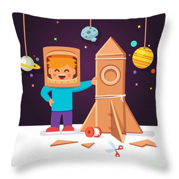 Cosmonaut Throw Pillows