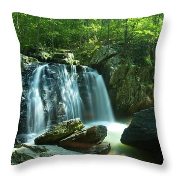 Kilgore Falls In Summer Throw Pillow